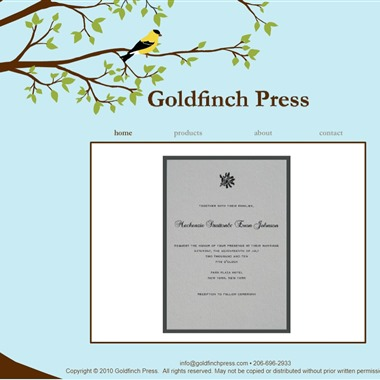 Goldfinch Press wedding vendor preview