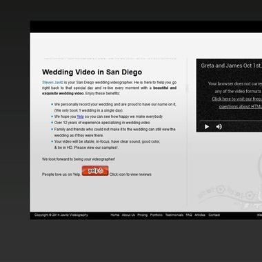 Javitz Video wedding vendor preview