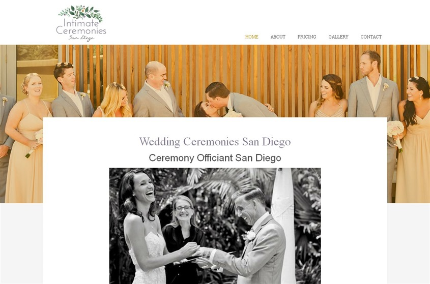 Intimate Ceremonies San Diego wedding vendor photo