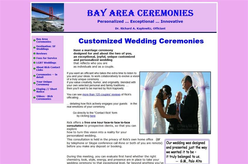Bay Area Ceremonies wedding vendor photo