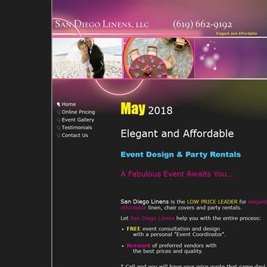 San Diego Linens wedding vendor preview