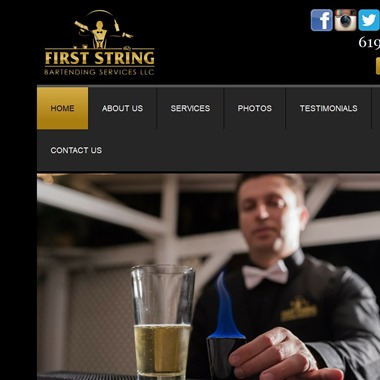 First String Bartending wedding vendor preview