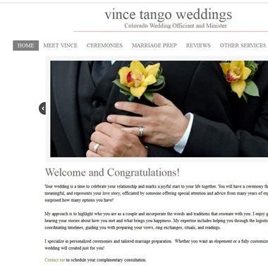 Vince Tango Weddings wedding vendor preview
