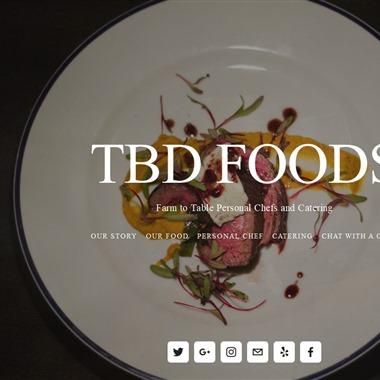 TBD Foods wedding vendor preview