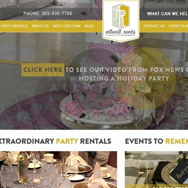 Allwell Rents wedding vendor preview