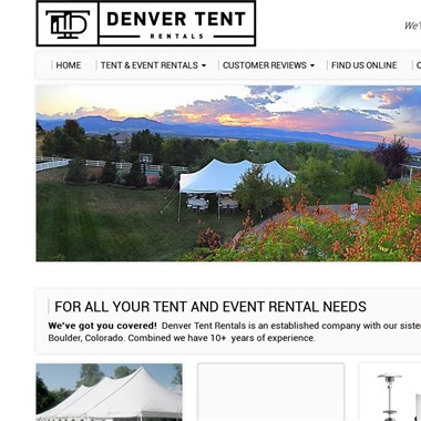 Denver Tent Rentals wedding vendor preview