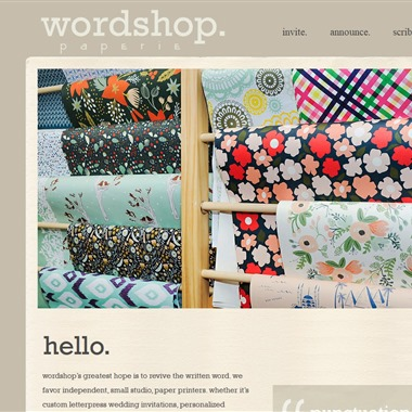 Wordshop. wedding vendor preview