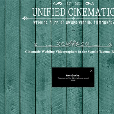 Unified Cinematic Wedding Video  wedding vendor preview