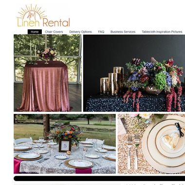 AM Linen Rental wedding vendor preview