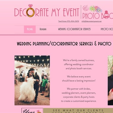 Decorate My Event wedding vendor preview