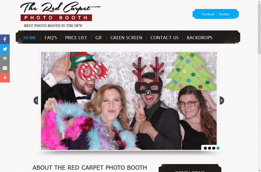 The Red Carpet Photo Booth wedding vendor photo