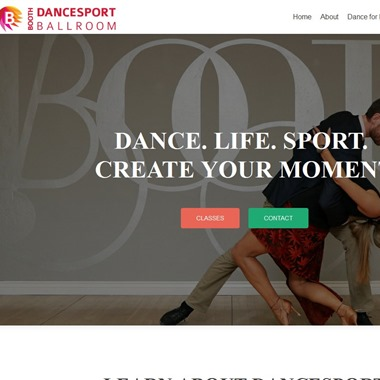 Booth Dancesport Ballroom wedding vendor preview