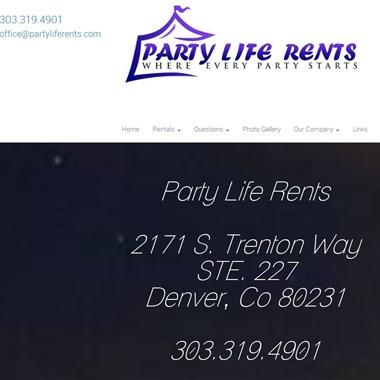 Party Life Rents wedding vendor preview