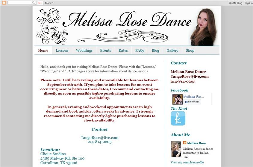 Melissa Rose Dance wedding vendor photo