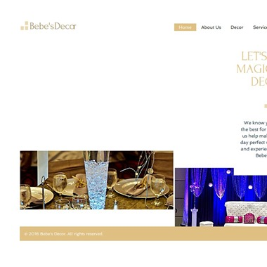 Bebe's Decor wedding vendor preview