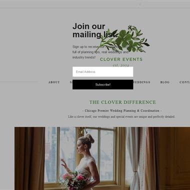 Clover Events wedding vendor preview