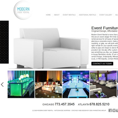 Modern Event Rental wedding vendor preview