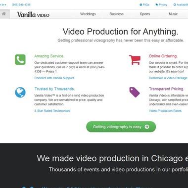 Vanilla Video LLC wedding vendor preview