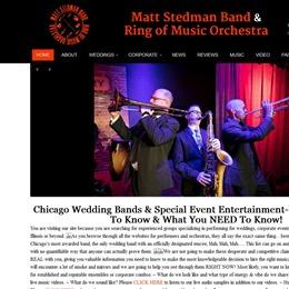 Photo of Matt Stedman Band & Ring of Music, a wedding musician in Chicago