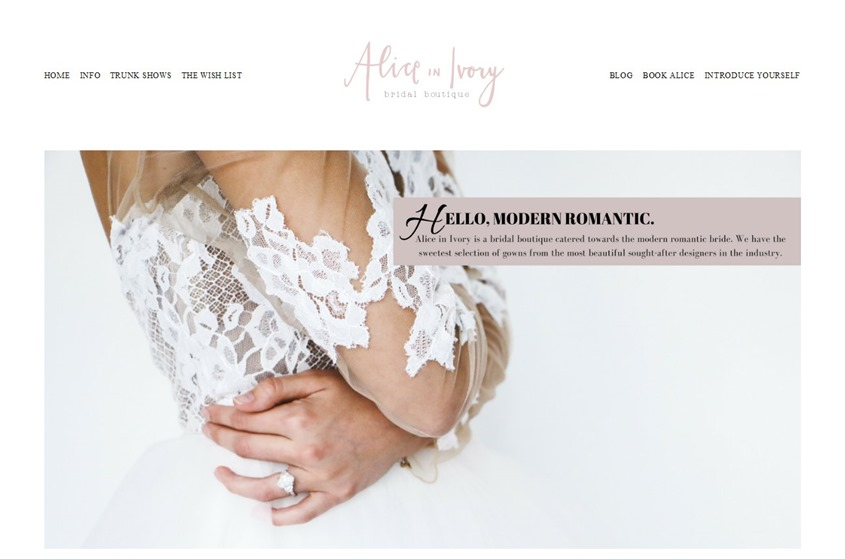 Alice in Ivory - Chicago wedding dresses and accessories