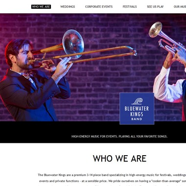 Bluewater Kings Band wedding vendor preview