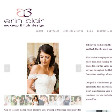 Erin Blair Makeup & Hair Design wedding vendor preview
