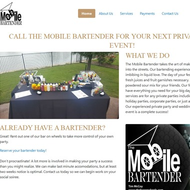 The Mobile Bartender wedding vendor preview