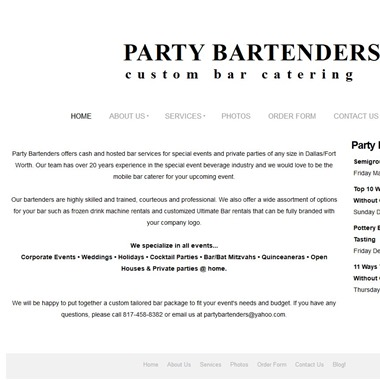 Party Bartenders wedding vendor preview