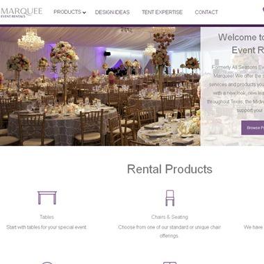 Marquee Event Rentals wedding vendor preview