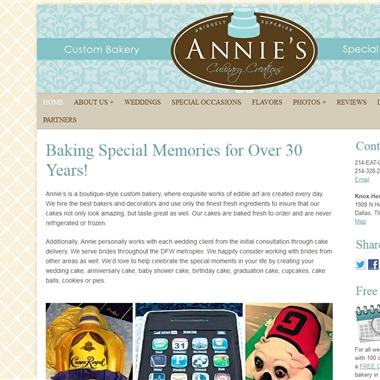 Annie's Culinary Creations wedding vendor preview