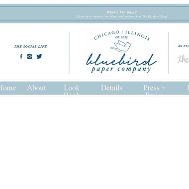 Bluebird Paper Company wedding vendor preview
