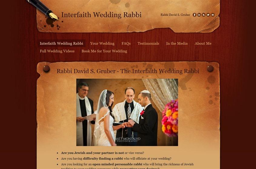 Interfaith Wedding Rabbi wedding vendor photo