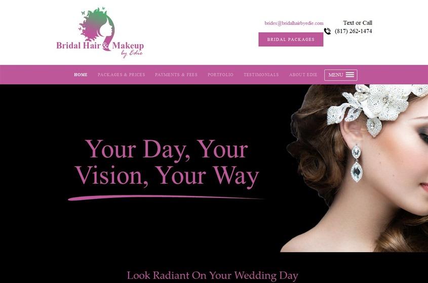 Bridal Hair & Makeup by Edie wedding vendor photo