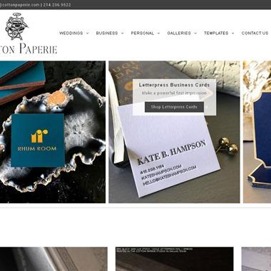 Cotton Paperie Letterpress wedding vendor preview