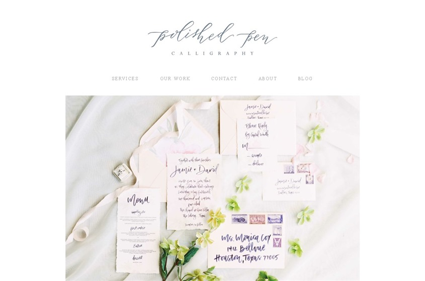 Polished Pen Calligraphy wedding vendor photo