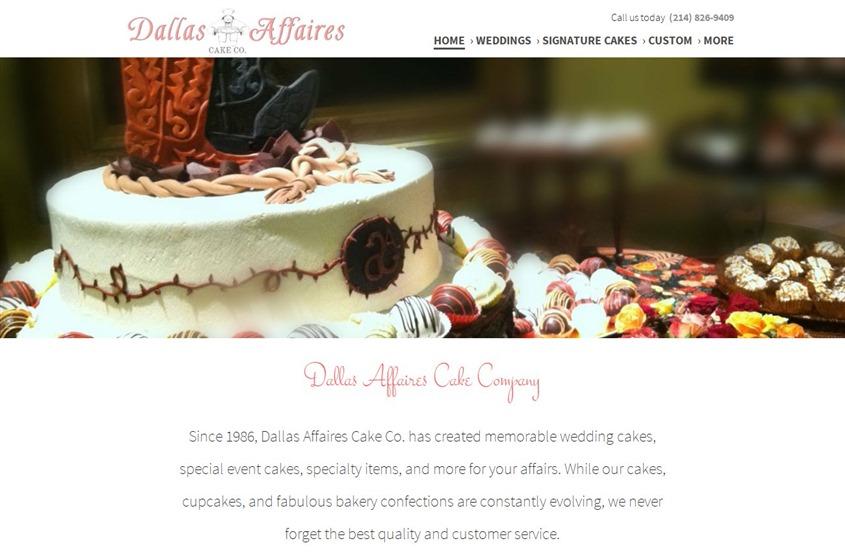 Dallas Affaires Cake Co wedding vendor photo