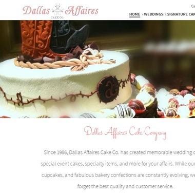Dallas Affaires Cake Co wedding vendor preview
