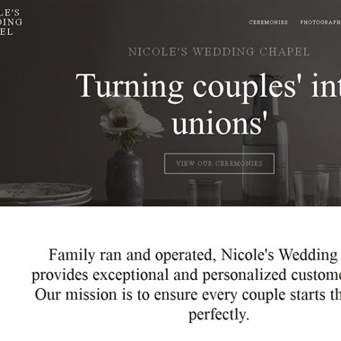 Nicole's Wedding Chapel wedding vendor preview
