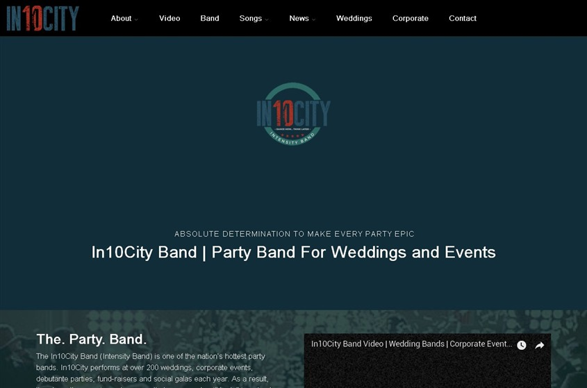 In10City Band wedding vendor photo