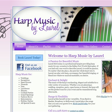 Harp Music by Laurel wedding vendor preview