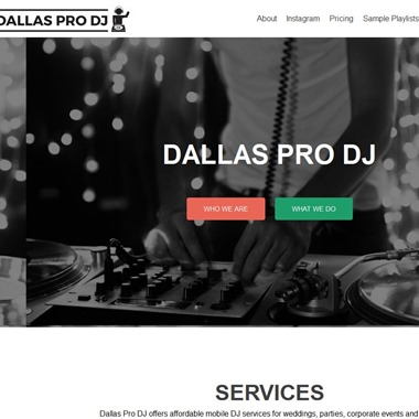 Dallas Pro DJ wedding vendor preview