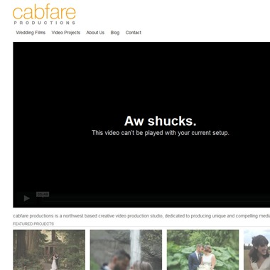 Cabfare Productions wedding vendor preview