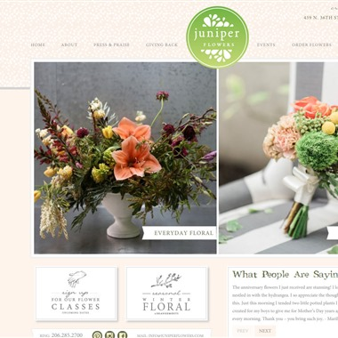 Juniper Flowers wedding vendor preview