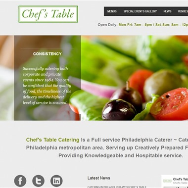 Chef's Table wedding vendor preview