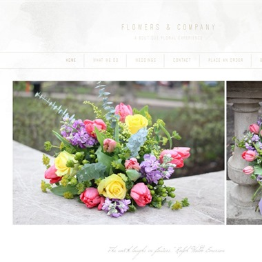 Flowers & Co wedding vendor preview