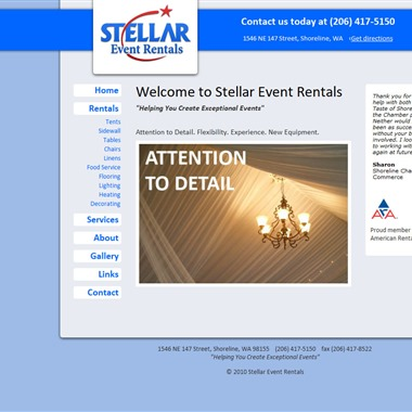 Stellar Event Rentals wedding vendor preview