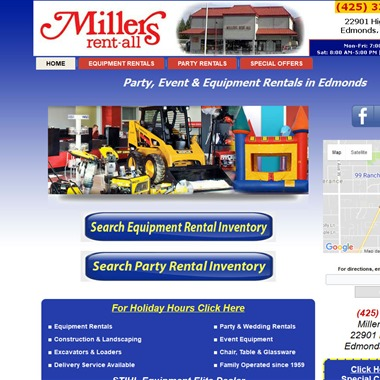 Millers Rent-All wedding vendor preview