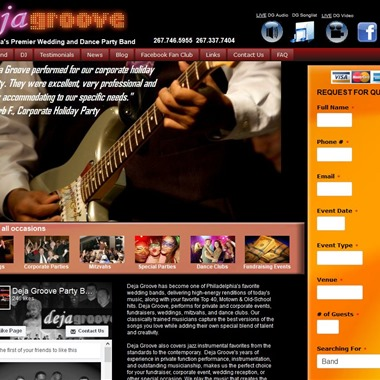 Deja Groove wedding vendor preview