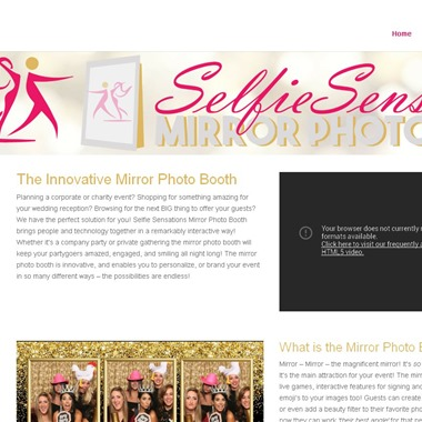 Selfie Sensations Mirror Photo Booth wedding vendor preview