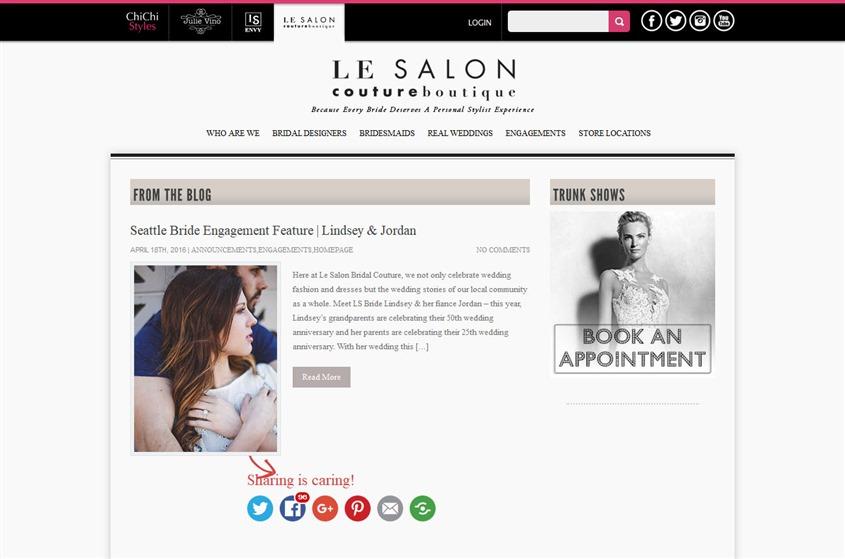 Le Salon Bridal Couture wedding vendor photo